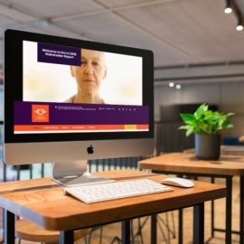 uj annual report website design